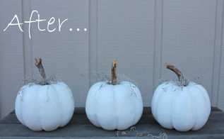 how to keep a white pumpkin white, chalk paint, painting, seasonal holiday decor