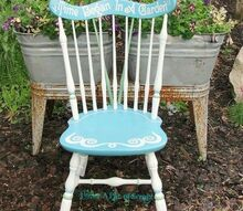 pretty painted garden chair, outdoor furniture, outdoor living, painted furniture