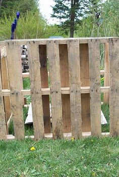 pallet compost bin, composting, diy, go green, pallet, repurposing upcycling, Used longer pallets for front back Front door swings open for access