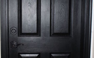 painting my interior and exterior doors black, doors, painting, Loving this look What a difference
