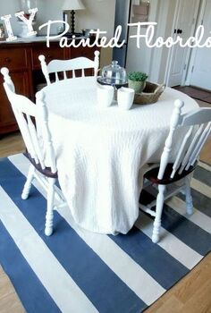 diy painted floor cloth, flooring, painting
