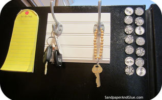 how to make a key hook for your fridge, cleaning tips, organizing
