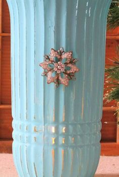 painted vintage vase with annie sloan paint, chalk paint, mason jars, painting, repurposing upcycling, Annie Sloan chalk paint vase