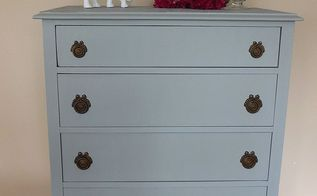 use paintable wallpaper to cover ruined furniture tops, painted furniture