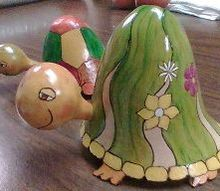http gourd creations com, crafts, these little guys are made from the tops of the gourds that i cut open for other projects