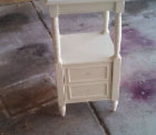 colorful nightstand makeover, painted furniture, Before