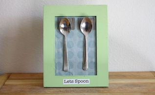 unique spooning art for wedding gift or make your own, crafts, repurposing upcycling