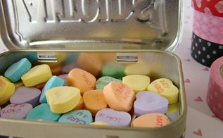 upcycled altoid tin valentine, crafts, repurposing upcycling