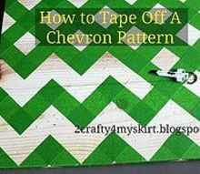 how to tape off a chevron pattern, crafts, painting