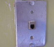 q i used to have a wall phone in the kitchen the metal plate is still there and as you, home decor