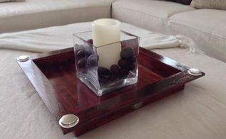 easy diy ottoman coffee table tray, crafts, home decor