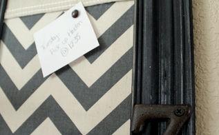 cardboard box message board, crafts, home decor, repurposing upcycling