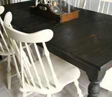 custom dark stained farm table, living room ideas, painted furniture
