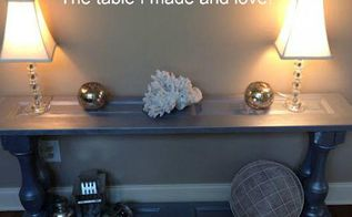 from closet doors to console table, painted furniture, repurposing upcycling