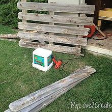 a diy long tapered crate, diy, home decor, how to, painted furniture, Find some old 5 1 2 in fence wood