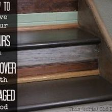 split entry stair makeover with salvaged reclaimed wood, stairs, woodworking projects