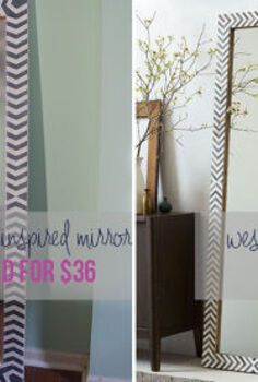 diy west elm inspired floor mirror, diy, home decor, how to, painted furniture, woodworking projects, Our beautiful designer knock off
