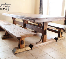 DIY Dining Table and Benches Hometalk