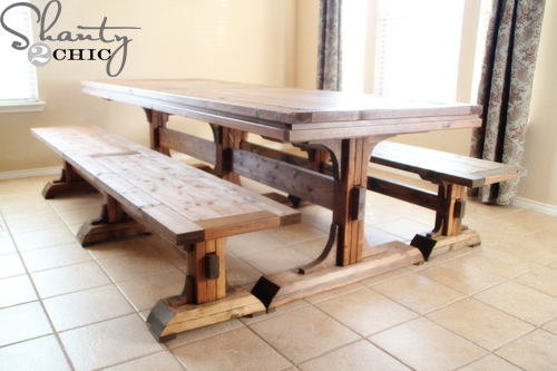 DIY Dining Table and Benches | Hometalk