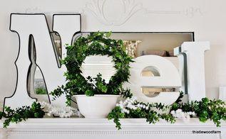 wishing you a joyeux noel mantel, seasonal holiday decor