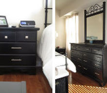 from traditional to modern master bedroom furniture makeover, bedroom ideas, painted furniture
