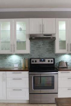 how to install a kitchen backsplash, diy, kitchen backsplash, kitchen design, tiling, wall decor, Finished IKEA Kitchen