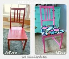 chair makeover, painted furniture
