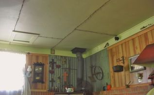 c h e a p way to cover 4x8 ceiling seams, diy, home maintenance repairs, how to