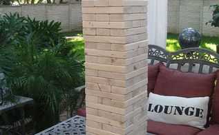 giant yard jenga game, diy, woodworking projects, The finished project
