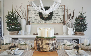 natural neutral christmas dining room, christmas decorations, seasonal holiday decor, See the blog for all of the links to the DIY projects