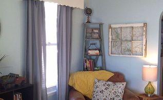 upcycled corner ladder shelf, home decor, living room ideas, repurposing upcycling