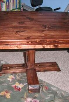 ana white build a square pedestal table free and easy diy project and furniture, painted furniture, woodworking projects