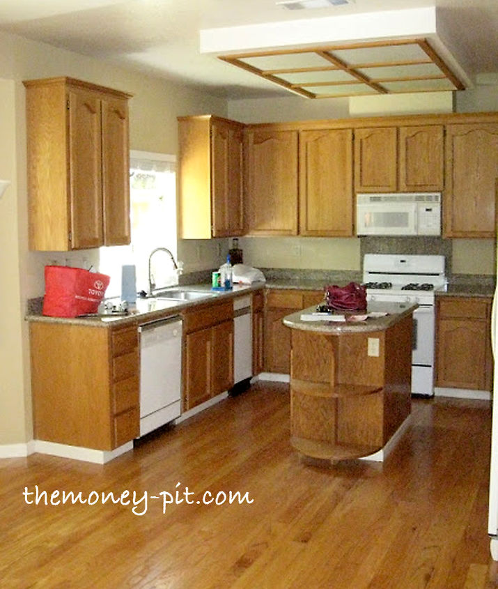 Updating A Fluorescent Box Light With Led Lighting And Decorative Molding Home Decor Kitchen