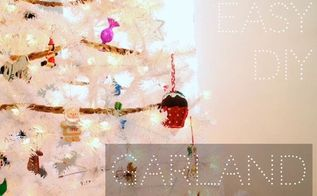 easy diy garland, christmas decorations, crafts, seasonal holiday decor