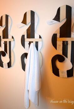 the how to on my seahorse towel hooks, bathroom ideas, crafts, home decor, These seahorse towel hooks were so simple to create with some everyday hardware