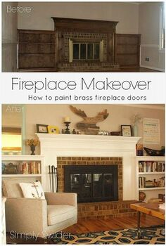 fireplace makeover part 2 getting rid of the brass, fireplaces mantels, home decor, living room ideas, Fireplace makeover