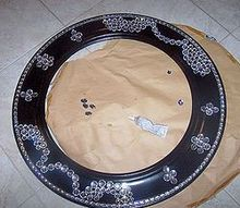 blinging a mirror, crafts, Lowes had a miror regular price 129 00 marked to 30 00 managed to get for 10 Painted it black