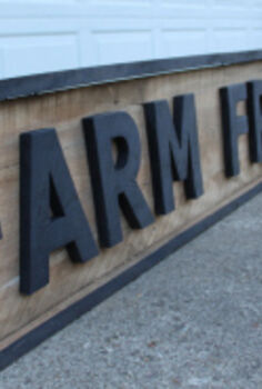 how to make vintage signs from pallets or barn wood on the cheap, pallet projects, repurposing upcycling, Our 9 Farm Fresh Egg sign made from old barn wood