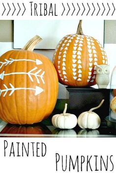 tribal painted pumpkins pumpkinideas falldecor, seasonal holiday decor, DIY Tribal Pumpkins You can use real pumpkins as shown here or craft store pumpkins