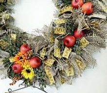rustic autumn kitchen wreath, crafts, seasonal holiday decor, wreaths, Fall Kitchen Wreath