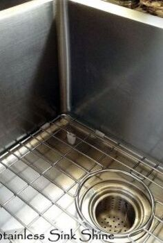 make your stainless steel sink shine my natural secret ingredient, cleaning tips, kitchen design, I love a shiny sink like this