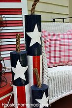 diy wooden firecrackers and our summer front porch, crafts, outdoor living, patriotic decor ideas, seasonal holiday decor, Easy to make Wooden Firecrackers