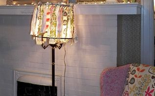 fun and funky lampshade, crafts, home decor