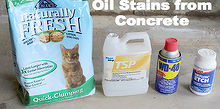 discover how to remove oil stains from concrete, cleaning tips, concrete masonry, How to remove oil stains from concrete