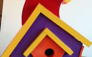 spring is coming birds need houses, crafts, pets animals, Wacky Birdhouse with a removable bottom for cleaning at the end of the nesting season
