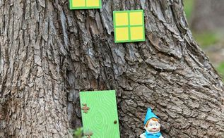 make a gnome tree house for your garden, crafts, decoupage, gardening, Confession I would love if the Keebler elves were to move into the tree house I made for them Mmmmm cookies