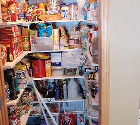 Coat Closet Made Into A Simple Walkin Pantry, Closet, Storage Ideas,  Finished Pantry