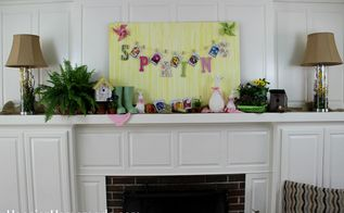 easy ideas to brighten your spring mantel, crafts, fireplaces mantels, seasonal holiday decor