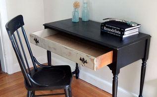 painted antique desk chair set, painted furniture