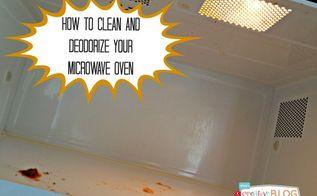 how to clean and deodorize your microwave, appliances, cleaning tips